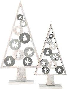 Small foot by Legler Small Foot Vánoční dekorace stromeček světlý 2 ks