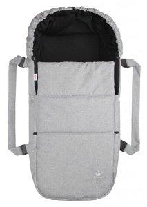 Emitex taška pro kojence OXFORD, světle šedá/černá uvnitř