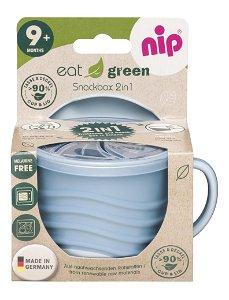 NIP GREEN line snackbox 2v1, 1ks, blue