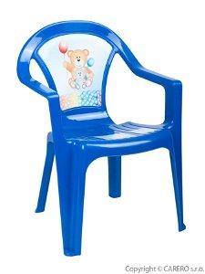 STAR PLUS Dětský zahradní nábytek - Plastová židle modrá
