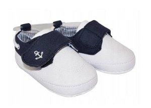 YO ! Kojenecké boty/capáčky Kotvička, bílé, 56-68 (0-6 m)