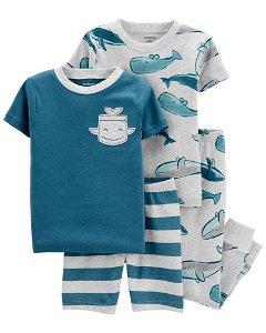 CARTERS CARTER'S Pyžamo dlouhé a krátké kalhoty, krátký rukáv 2ks Whale chlapec 24m