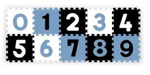 BabyOno Pěnové puzzle - Čísla, 10ks, černá/modrá/bílá