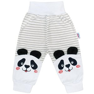 Kojenecké tepláčky New Baby Panda Šedá 62 (3-6m)