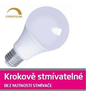 Emos LED žárovka 10W SMD2835 E27 880lm teplá STMÍVATELNÁ