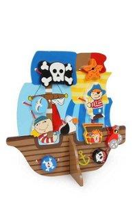 Small foot by Legler Small Foot Provlékací hra pirátská loď