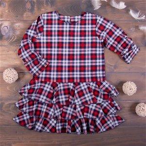 K-Baby Dětské šatičky Kárko - červené, vel. 110, 110 (4-5r)