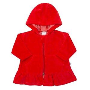 Semišková mikinka s kapucí New Baby Baby červená Červená 80 (9-12m)