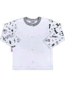Kojenecký bavlněný kabátek New Baby Music Bílá 80 (9-12m)