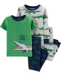 CARTERS CARTER'S Pyžamo krátký a dlouhý rukáv Aligator chlapec 2ks 24m