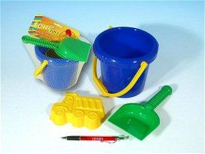 NELLYS Sada na písek - kbelík, lopatka, bábovka plast v sáčku 12m+
