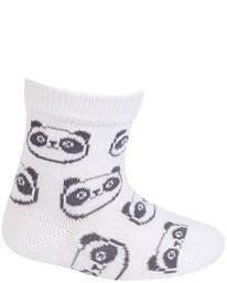 WOLA Ponožky kojenecké bavlněné neutral Panda White 18-20
