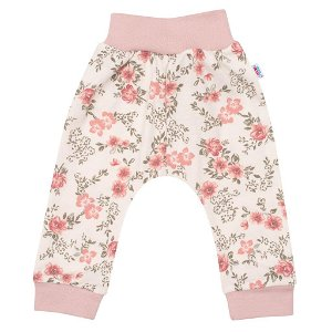 Kojenecké tepláčky New Baby Flowers růžové Růžová 80 (9-12m)