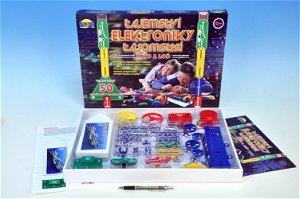 Dromader Tajemství elektroniky - Auto, loď 50 experimentů na baterie v krabici 46,5x33,5x4cm od 6 let