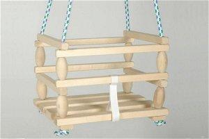 Houpačka Baby dřevěná 33x30cm nosnost 80kg v sáčku 6m+