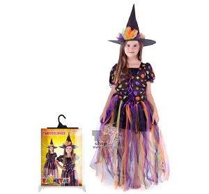 Dětský kanevalový kostým čarodějnice vel. S