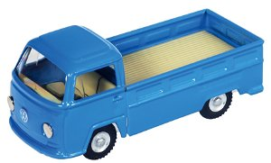 Kovap Dodávka VW T2 valník kov 12cm modrý v krabičce Kovap