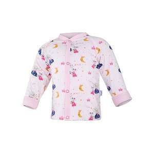 LITTLE ANGEL Kabátek podšitý Outlast® - sv.růžová-tančící zvířátka/růžová baby vel. 74-80