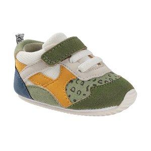 MAYORAL chlapecké botičky zelená/bílá/žlutá - vel. 18