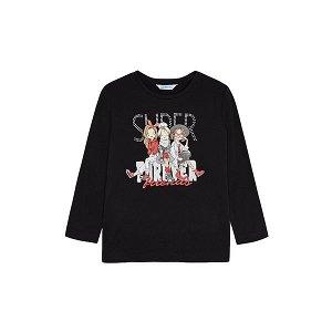 MAYORAL dívčí tričko DR superff černá - 110 cm