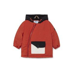 MAYORAL chlapecká bunda boční zip kapsa oranžová - 92 cm