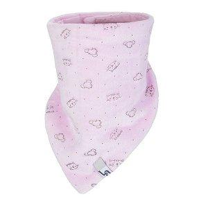 LITTLE ANGEL Šátek na krk NICKI Outlast® - růžová-zvířátka