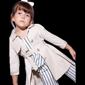 ABEL & LULA dívčí kabát béžový vel. 122 cm