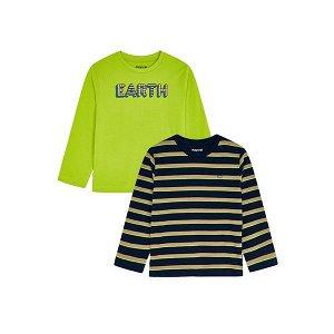 MAYORAL chlapecké tričko 2ks Earth zelená - 128 cm