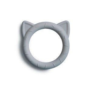 MUSHIE Silikonové kousátko Cat - Stone