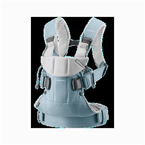 BABYBJÖRN Ergonomické nosítko One Light blue / Light grey cotton