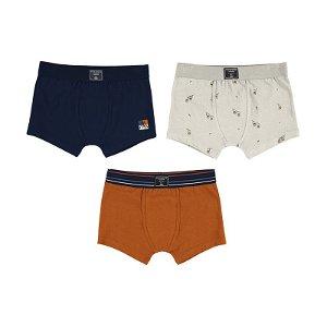 MAYORAL chlapecký set boxerky 3ks oranžová, tmavě modrá, bílá - 104 cm