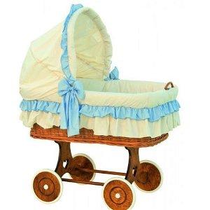 SCARLETT boudička k proutěnému košíku Martin modrá