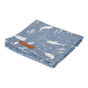 LITTLE DUTCH Osuška swaddle 120x120 cm Ocean blue