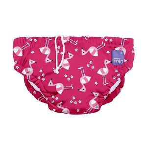 BAMBINO MIO Kojenecké plavky - Pink Flamingo vel.M