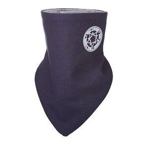 LITTLE ANGEL Šátek na krk podšitý Jeans Outlast® - tm.modrá/šedý melír