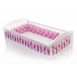 T-TOMI Pletený mantinel 360cm - pink