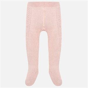 MAYORAL dívčí tkané punčochy růžová - 80 cm