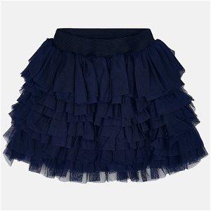MAYORAL dívčí tylová sukně tmavě modrá - 116 cm