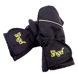 LITTLE ANGEL Rukavice s palcem Outlast® velikost 1 (1-2 roky), barva černá