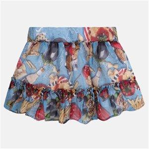 MAYORAL dívčí šifonová sukně s potiskem - barevná - 98 cm