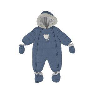 MAYORAL chlapecká kombinéza medvídek tmavě modrá - 75 cm