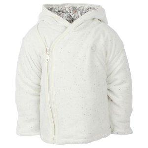 FIXONI dětský vyteplený kabátek tečky bílá - 50 cm