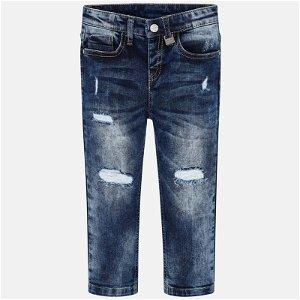 MAYORAL dětské trhané jeans tmavě modré - 134 cm
