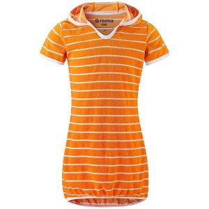 REIMA dívčí UV šaty Genua - Orange - 110 cm