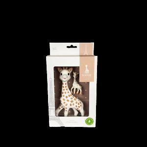VULLI Sada hračka žirafa Sophie s přívěškem na klíče