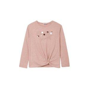 MAYORAL dívčí tričko třpytící Every růžová - 140 cm