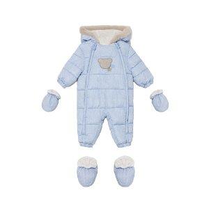 MAYORAL chlapecká kombinéza medvídek světle modrá - 65 cm