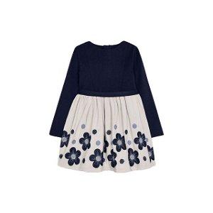 MAYORAL dívčí šaty DR květinová výšivka tmavě modrá - 116 cm