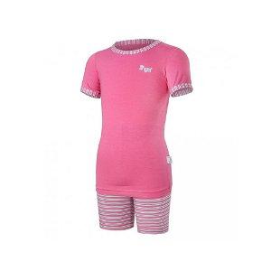 LITTLE ANGEL Pyžamo KR Outlast® tm.růžová/pruh růžovozelený vel. 98