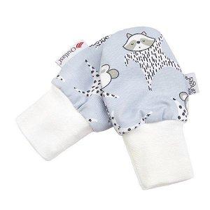 LITTLE ANGEL Rukavice podšité kojenecké Outlast® - šedá-usínáček/pruh bílošedý melír Vel. 1
